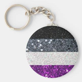 Porte-clés Porte - clé asexuel de scintillement de fierté