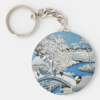 Porte-clés Porte - clé asiatique de pont et de paysage de