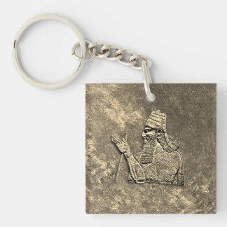 Porte-clés Porte - clé assyrien du Roi acrylique