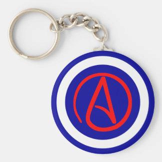 Porte-clés Porte - clé athée de symbole