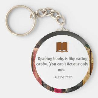 Porte-clés Porte - clé avec la citation de livre