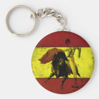 Porte-clés Porte - clé avec la corrida sur le drapeau