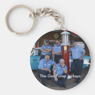 Porte-clés Porte - clé avec la photo de jockeys de pompe à