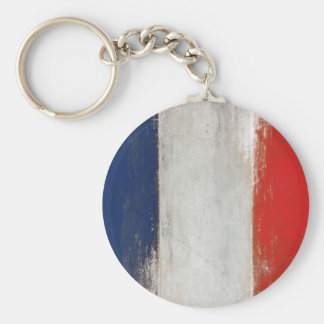 Porte-clés Porte - clé avec le drapeau français vintage sale
