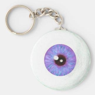 Porte-clés Porte - clé azuré déplaisant de globe oculaire de