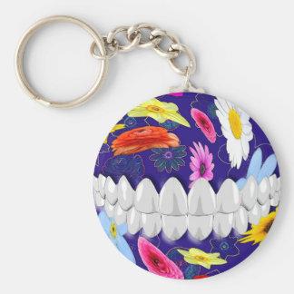 Porte-clés Porte - clé blanc de dentiste de conception de
