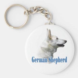 Porte-clés Porte - clé blanc de nom de berger allemand