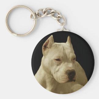 Porte-clés Porte - clé blanc de pitbull