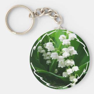 Porte-clés Porte - clé blanc du muguet