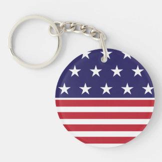 Porte-clés Porte - clé blanc et bleu rouge