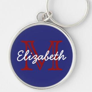 Porte-clés Porte - clé blanc et bleu rouge nautique de