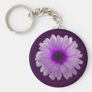 Porte-clés Porte - clé blanc et pourpre de souci