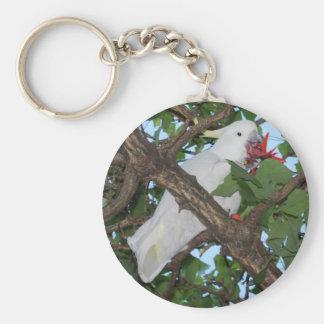 Porte-clés Porte - clé blanc sauvage de perroquet de cacatoès