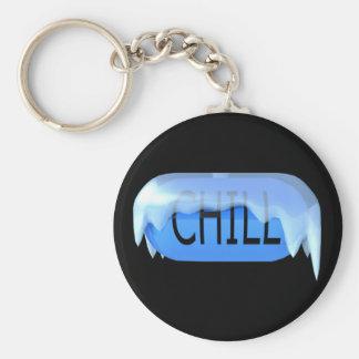 Porte-clés Porte - clé bleu 02 de pilule froide