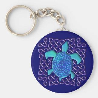 Porte-clés Porte - clé (bleu) celtique de tortue de noeud