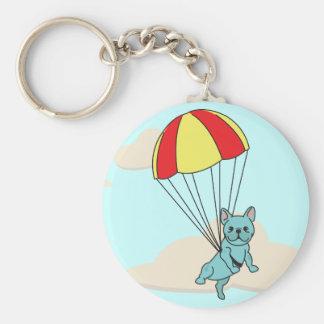 Porte-clés Porte - clé bleu d'amusement de parapluie de