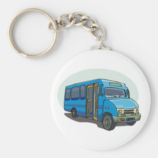 Porte-clés Porte - clé bleu d'autobus
