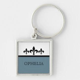 Porte-clés Porte - clé bleu de Swanky Fleur De Lis Premium