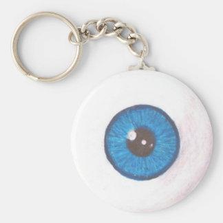 Porte-clés Porte - clé bleu déplaisant de globe oculaire