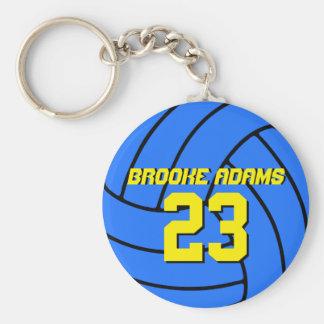 Porte-clés Porte - clé bleu d'équipe de sports de volleyball