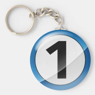 Porte-clés Porte - clé bleu du numéro 1