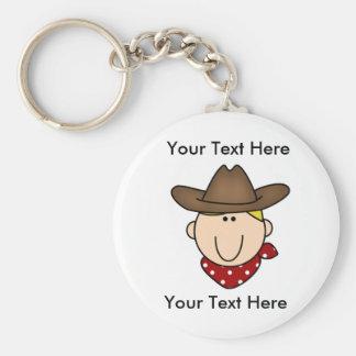 Porte-clés Porte - clé blond de cowboy fait sur commande