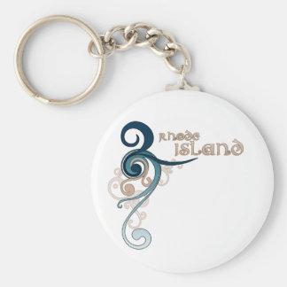 Porte-clés Porte - clé bouclé bleu d'Île de Rhode de remous