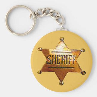Porte-clés Porte - clé bronzage de l'insigne du shérif (dans