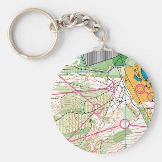 Porte-clés Porte - clé - carte de course d'orientation