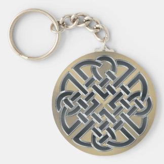 Porte-clés Porte - clé celtique de noeud en métal noir et en
