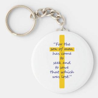 Porte-clés Porte - clé chrétien croisé d'or