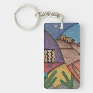 Porte-clés Porte - clé coloré d'arc-en-ciel de désert de