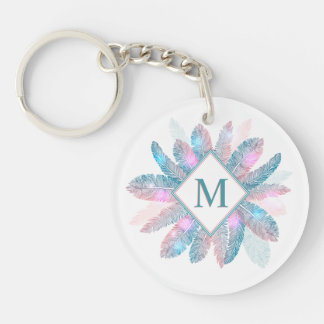 Porte-clés Porte - clé coloré de monogramme de cadre de