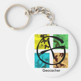 Porte-clés Porte - clé coloré et logoed de Geocaching
