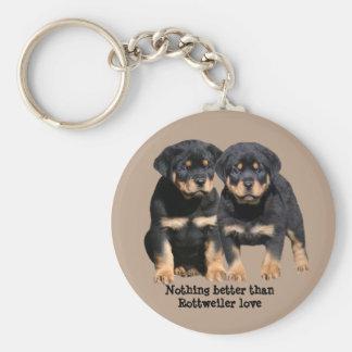Porte-clés Porte - clé d'amis de rottweiler