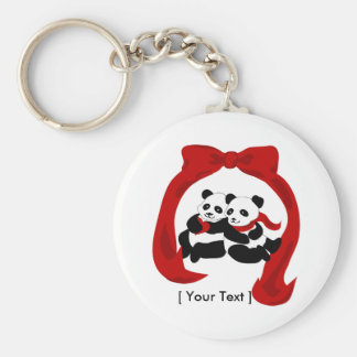 Porte-clés Porte - clé d'amour de panda