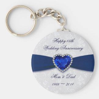 Porte-clés Porte - clé d'anniversaire de mariage de damassé