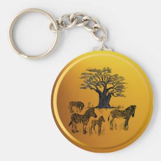 Porte-clés Porte - clé d'arbre de zèbre et de baobab