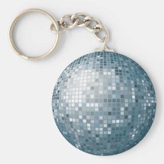 Porte-clés Porte - clé d'argent de boule de disco