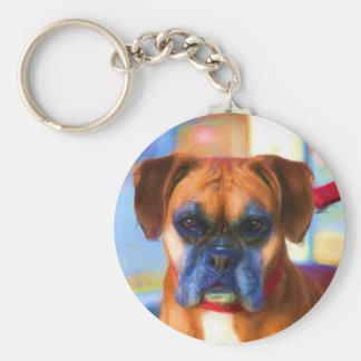 Porte-clés Porte - clé d'art de chien de boxeur
