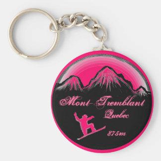 Porte-clés Porte - clé d'art de surf des neiges de rose de