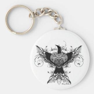 Porte-clés Porte - clé d'art de tatouage de colombe de paix