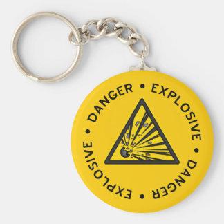 Porte-clés Porte - clé d'avertissement explosif