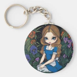 """Porte-clés Porte - clé de """"Alice et des fleurs"""""""