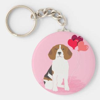 Porte-clés Porte - clé de ballon d'amour de beagle - chien