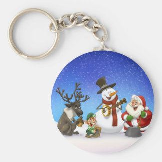 Porte-clés Porte - clé de bande de cruche de Noël