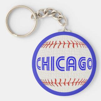 Porte-clés Porte - clé de base-ball de Chicago