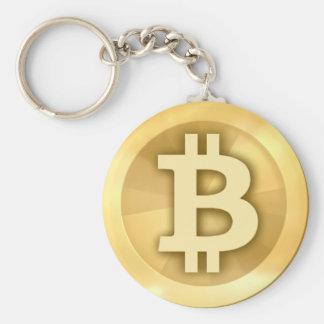Porte-clés Porte - clé de base de bouton de Bitcoin