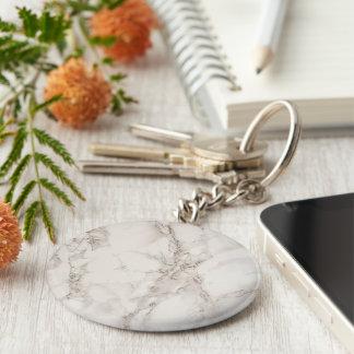 Porte-clés Porte - clé de base en pierre de marbre de bouton