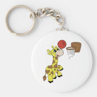 Porte-clés Porte - clé de basket-ball de girafe